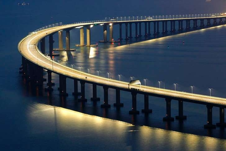 China opens world's longest sea bridge
