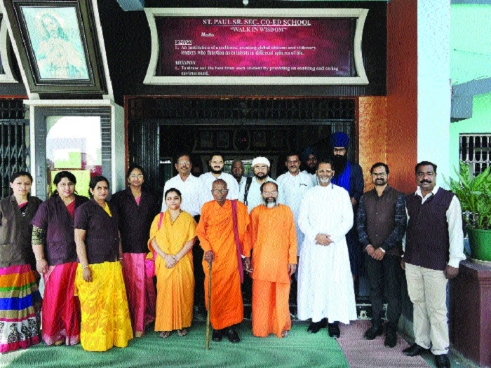 St Paul holds inter-religious prayer service 'Sangam'