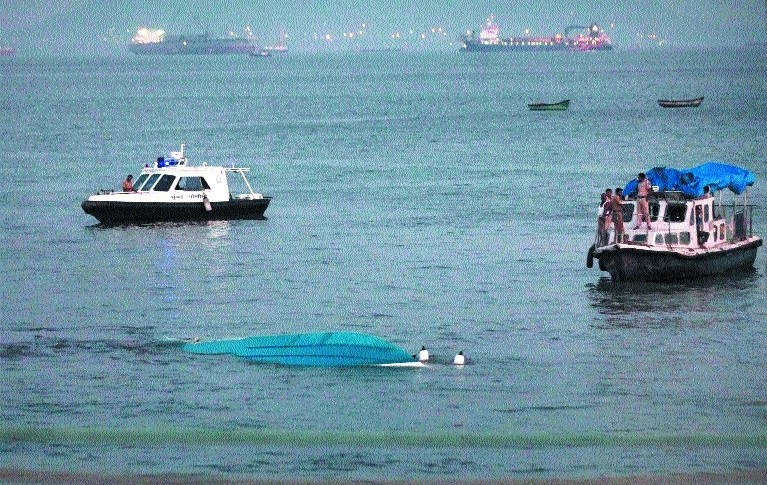 One drowns as boat capsizes off Mumbai coast