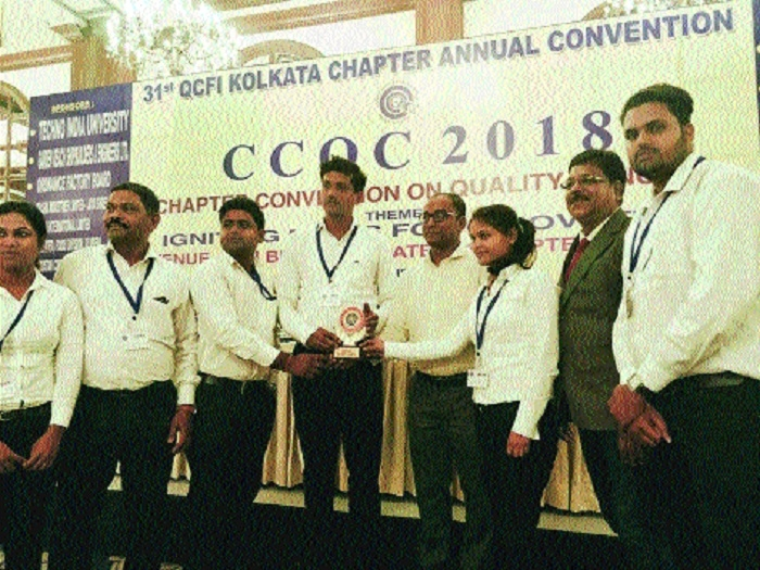QC team 'Khoj' from SMS-1 wins 'Gold Award' at Kolkata