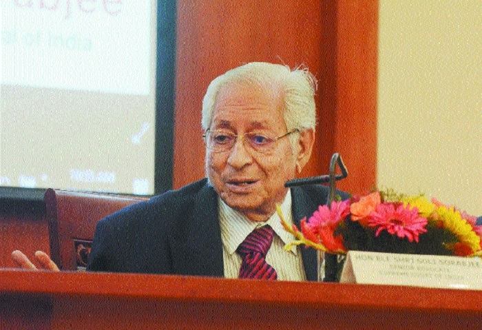 Sorabjee praises SC's sentinel role in protecting, enlarging human rights