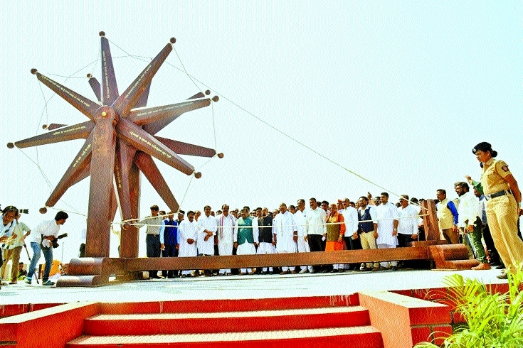 World's biggest charkha unveiled