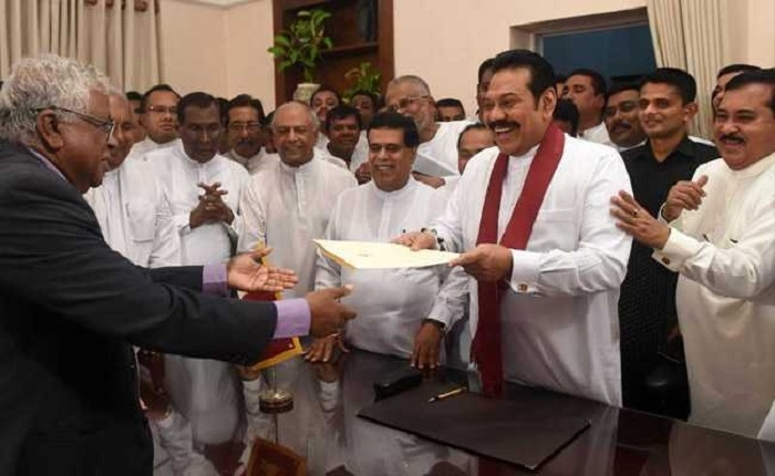 Rajapaksa assumes charge as new Lankan PM