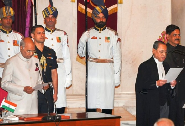 Justice Gogoi sworn in as new CJI