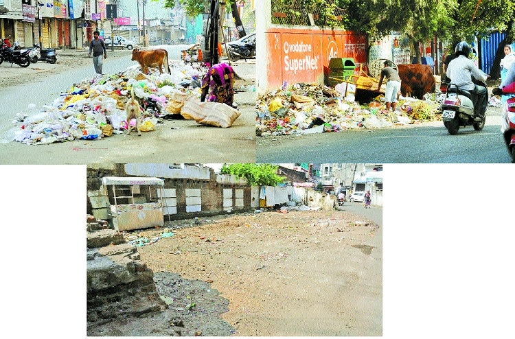 Heaps of garbage, encroachment visible in Prabhag 19