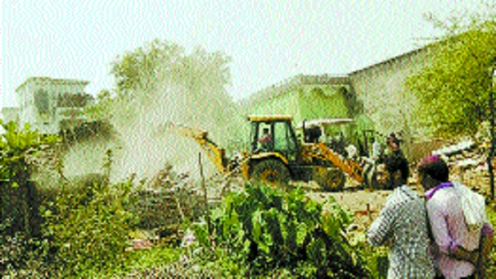 124 houses removed in anti-encroachment drive
