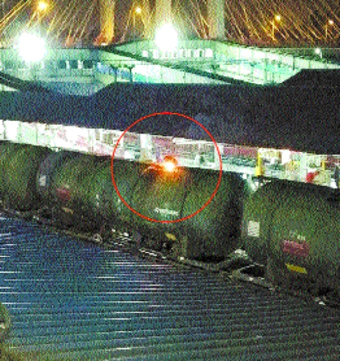 Diesel tanker train catches fire; major tragedy averted