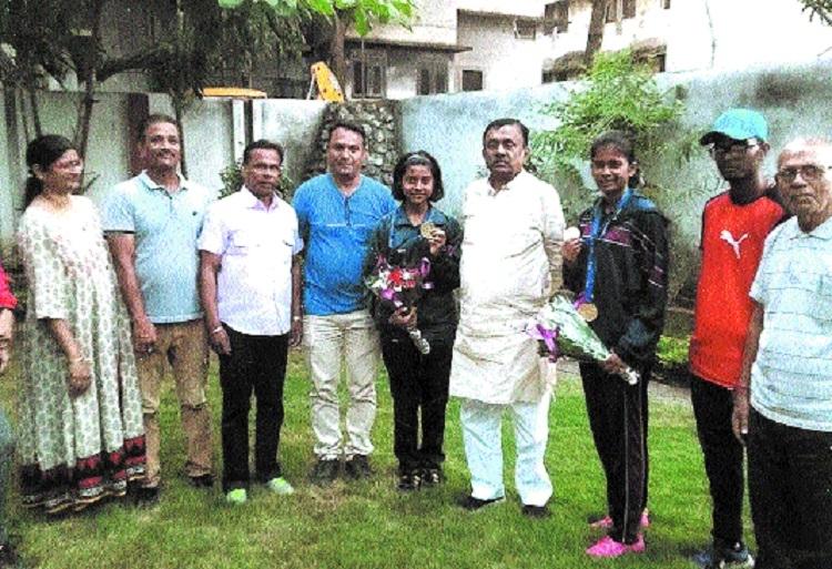 Athletes Adhya Patel, Rashika Singh feted