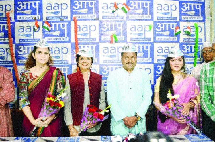 Ex-Wing Commander Acharya, social activist Singh, educationist Nanda join AAP
