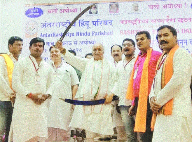 Dr Togadia announces march from Lucknow to Ayodhya for Ram temple