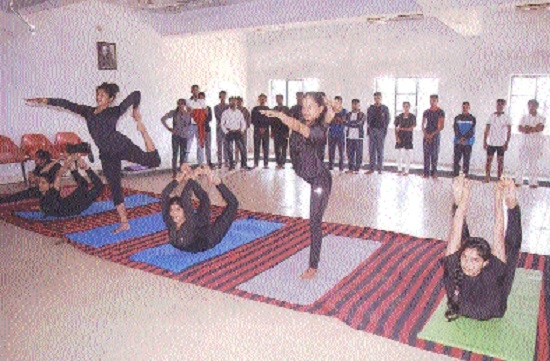 Divisional-level yoga competition organised
