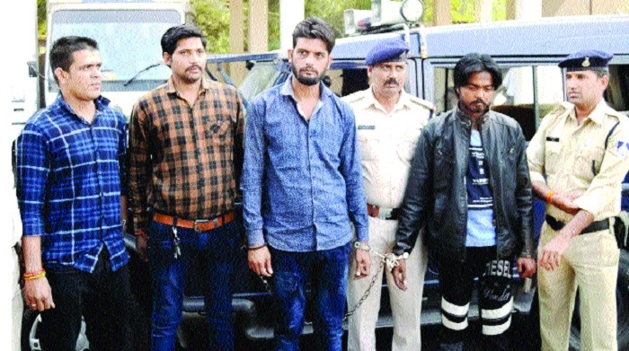 Six firearm smugglers held along with pistols, rifles