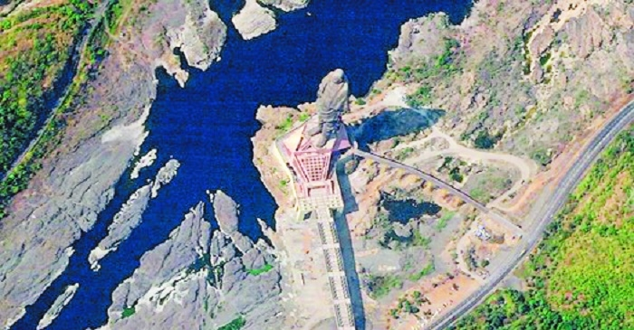 The worlds tallest statue Statue of Unity as seen from spaceThe photo of the of 182 metres statue of Sardar Vallabhbhai Patel in Gujarat was taken by an American company satellite  Sky Lab
