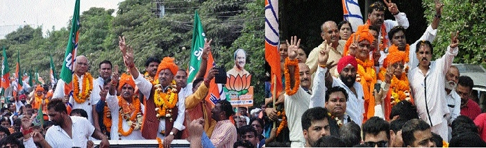 BJP candidates from 72 Assembly constituencies file nominations