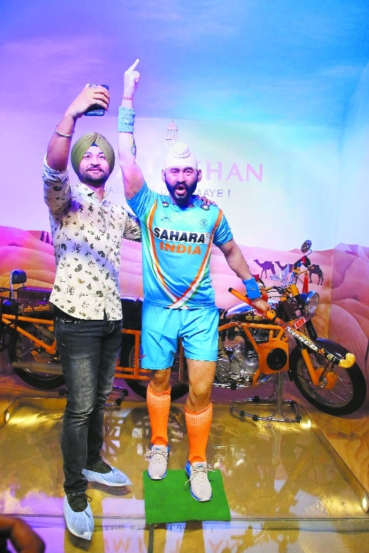 Sandeep statue unveiled at Jaipur Wax Museum