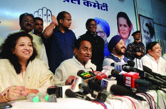 Kamal Nath demands re-polling at booths affected with snag in EVMs