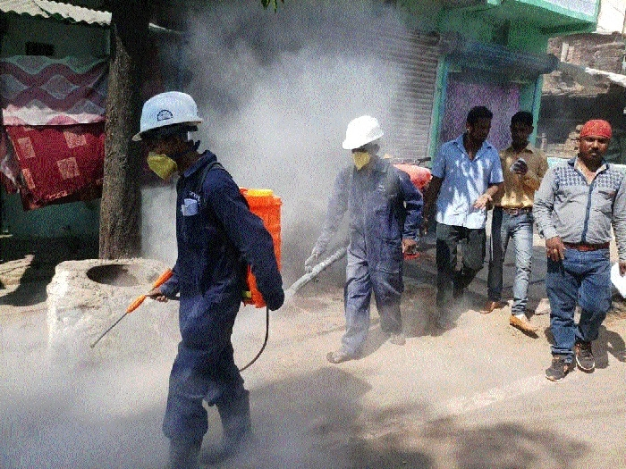Drive against persisting mosquito menace continues spraying in 4 municipal wards carry out