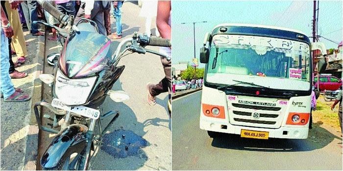 Speeding bus crushes motorcyclist to death