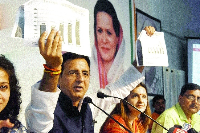 Surejewala attacks Govt on Krishi Karman Award