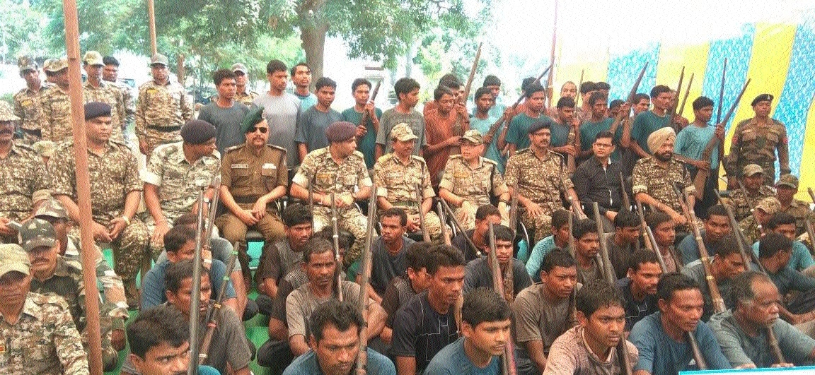 62 Naxals surrender in C'garh's Narainpur