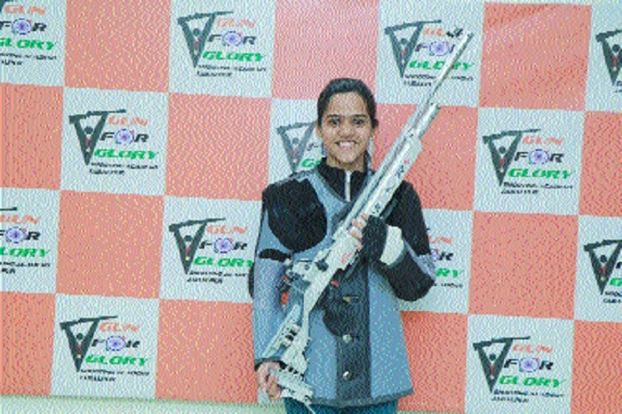 Shreya shines with silver in 11th Asian Air Gun Shooting
