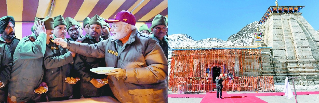 Modi celebrates Diwali with soldiers near India-China border