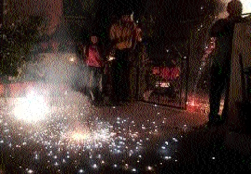 When city celebrated Diwali, Fire Deptt staff ensured people's safety
