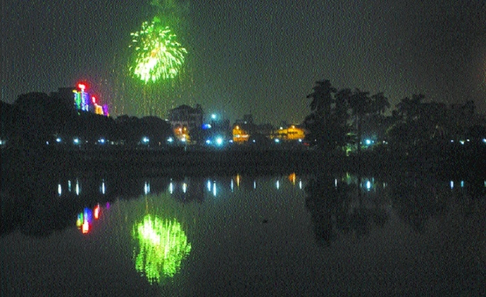 City celebrates less noisy Diwali this year