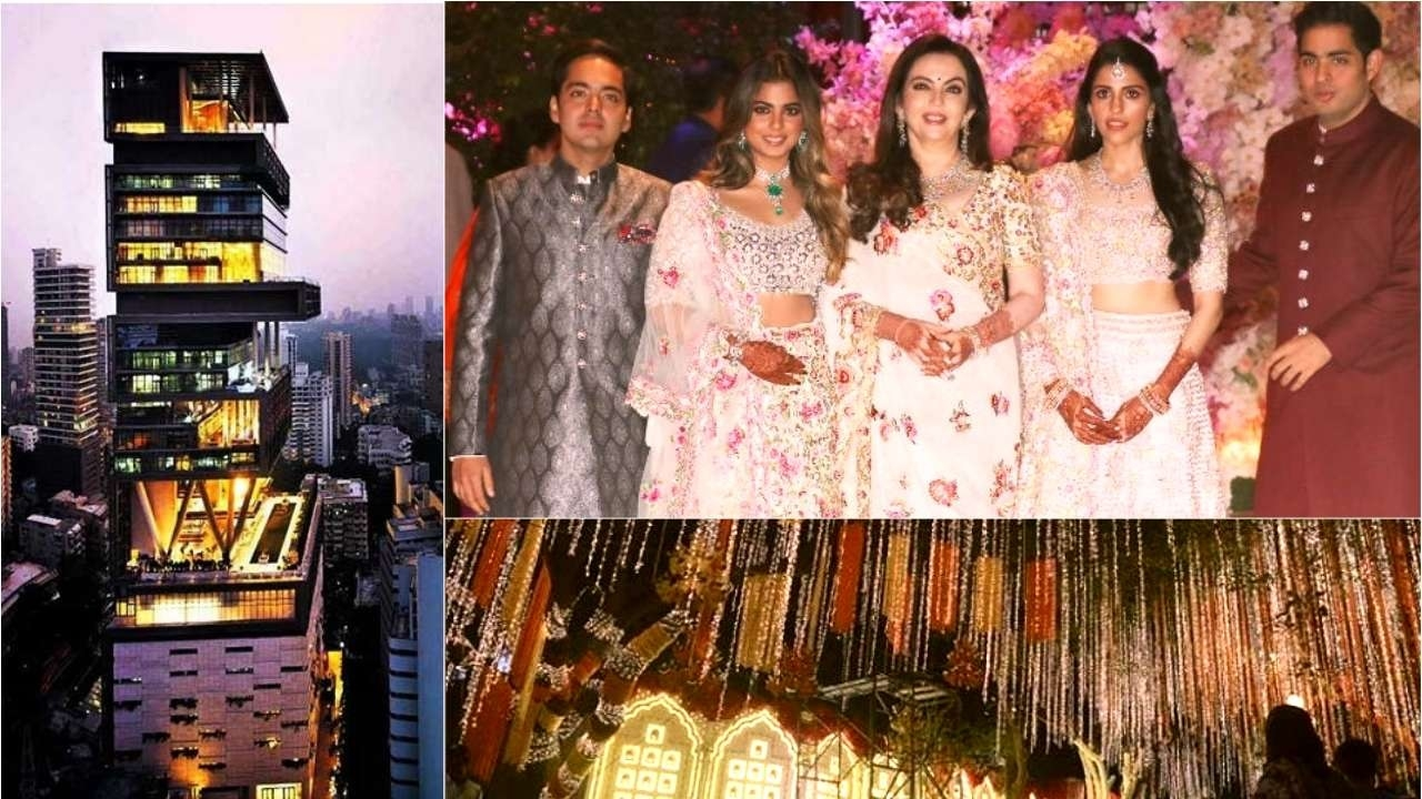 Ambani's Antilla all decked up for Isha-Anand wedding today