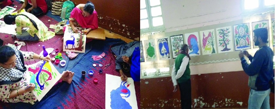 Pithora painting workshop, exhibition attract visitors