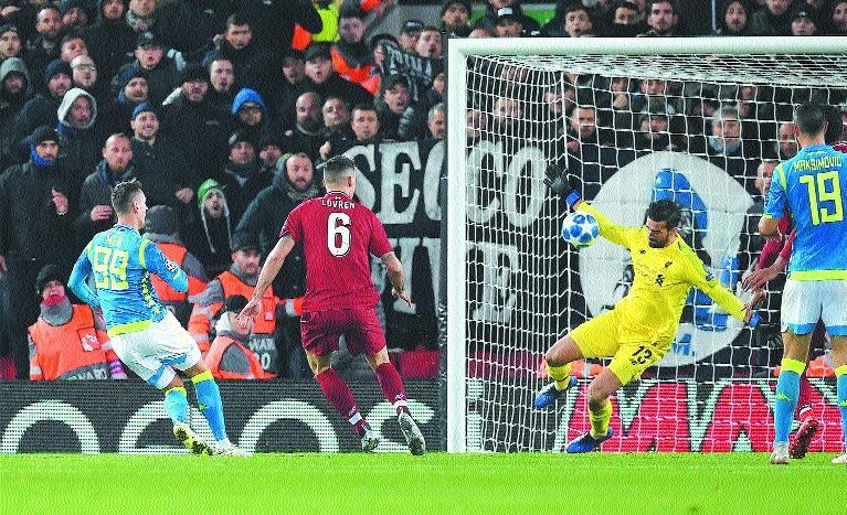 'Life saver' Alisson takes Liverpool into last 16
