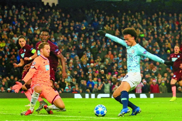 Sane secures top spot for City