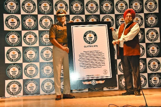 Bilaspur Police enters Guinness Book