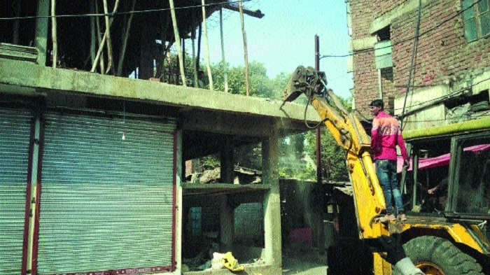 BMC demolishes illegal construction in Bal Vihar