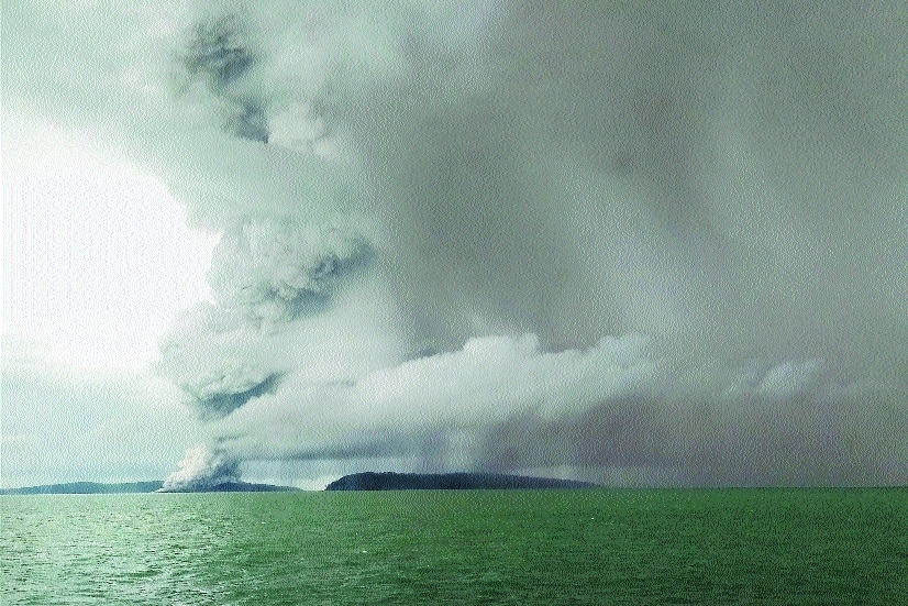 Indonesian tsunami volcano lost two-thirds of its height