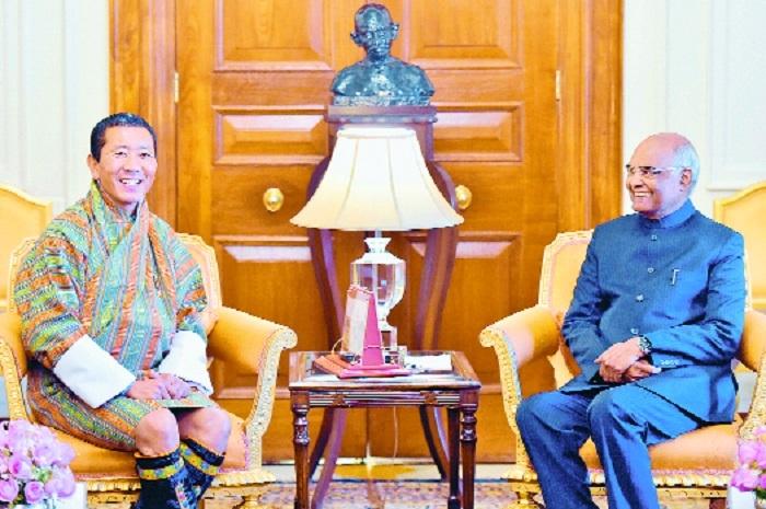 Bhutanese PM calls on Kovind