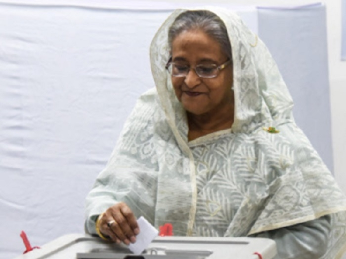 B'desh PM Hasina set to win fourth term; 17 killed in poll violence