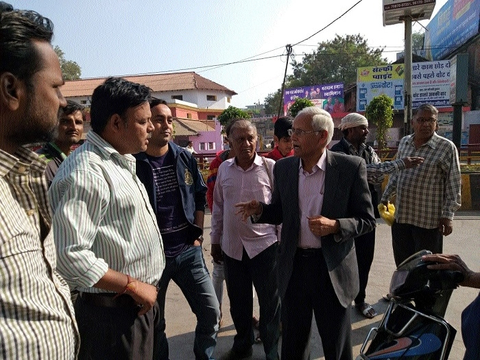 Officers visit Sagar: Cleanliness Survey
