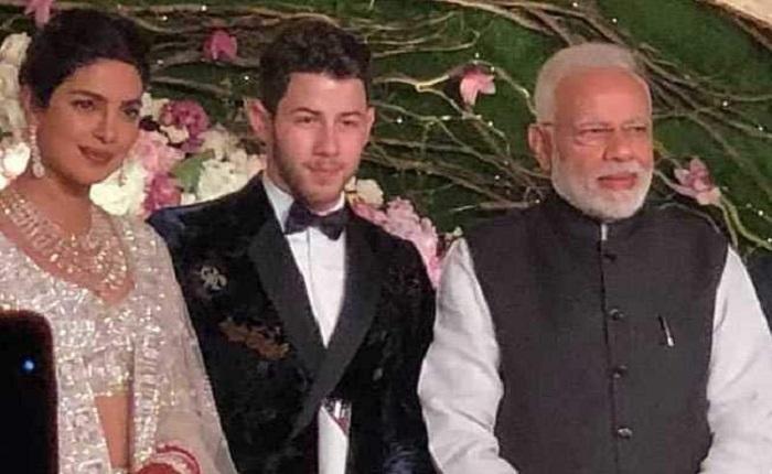 Modi attends Priyanka-Nick's Delhi reception