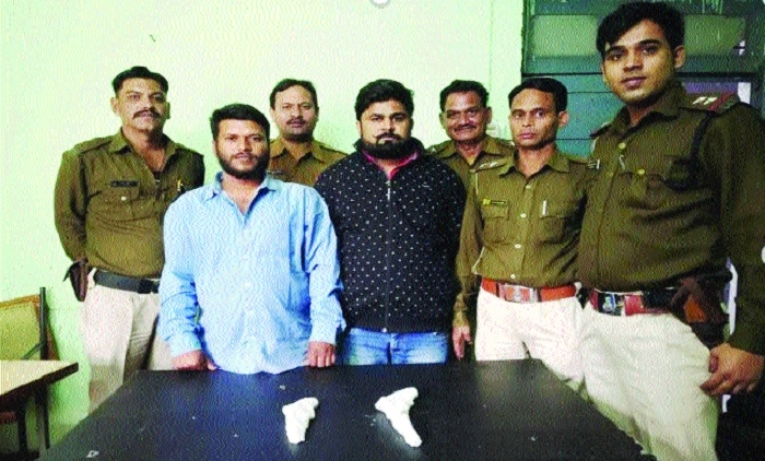 Two goons carrying cash reward held with pistols