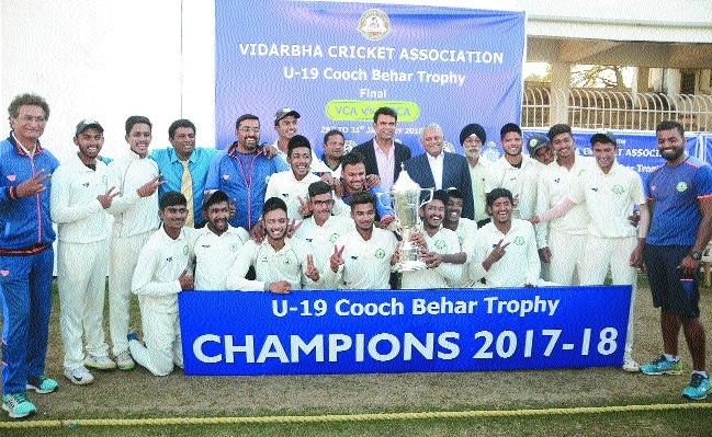 Supremacy stamped: Vidarbha U-19 are champions