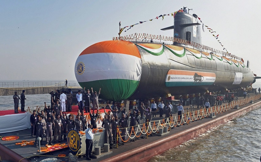 3rd Scorpene submarine launched