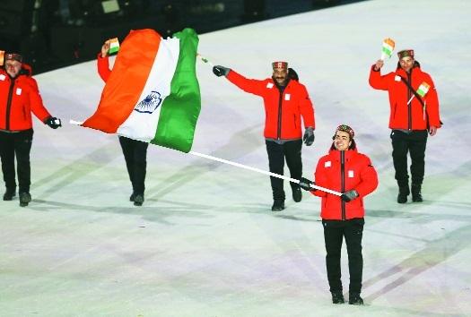 Flag-bearer Shiva leads Indian contingent