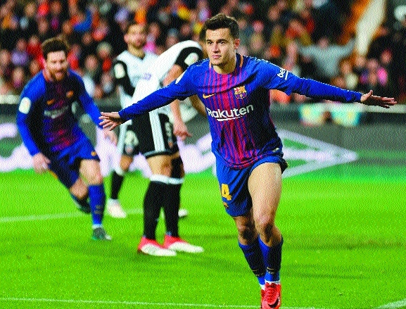 Coutinho guides Barca to Copa del Rey final