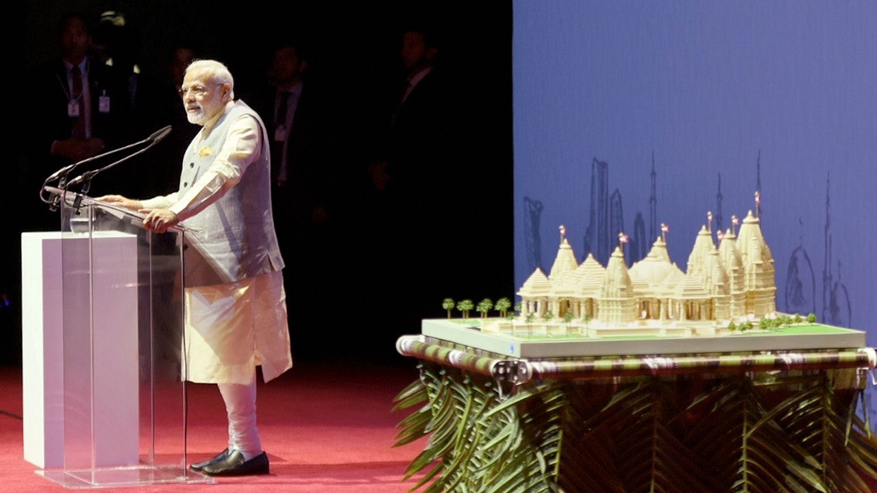 PM launches project for first Hindu temple in Abu Dhabi