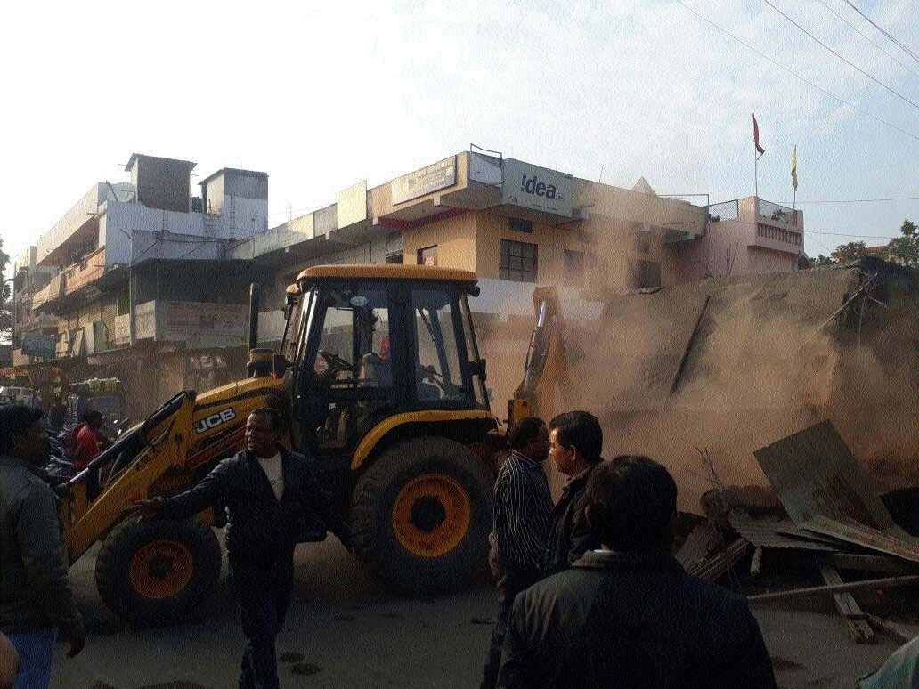 Encroachments hindering development works razed