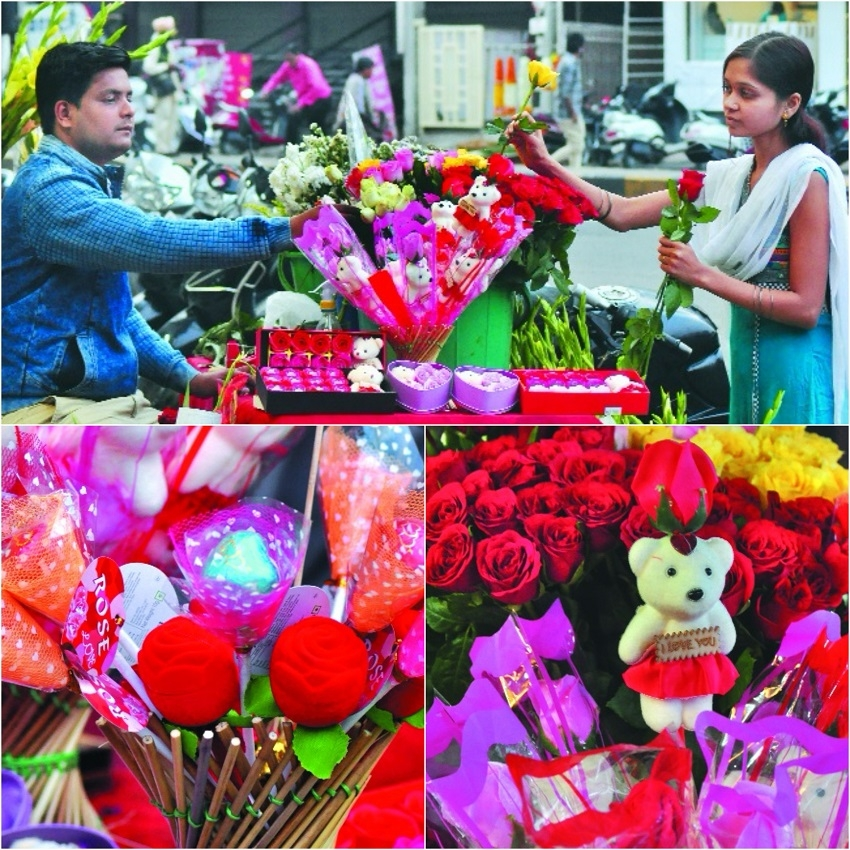 Markets gear up for Valentine Day celebrations