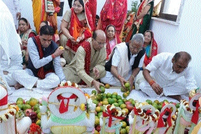Vedic chanting and rituals mark consecration of Salasar Balaji Dham