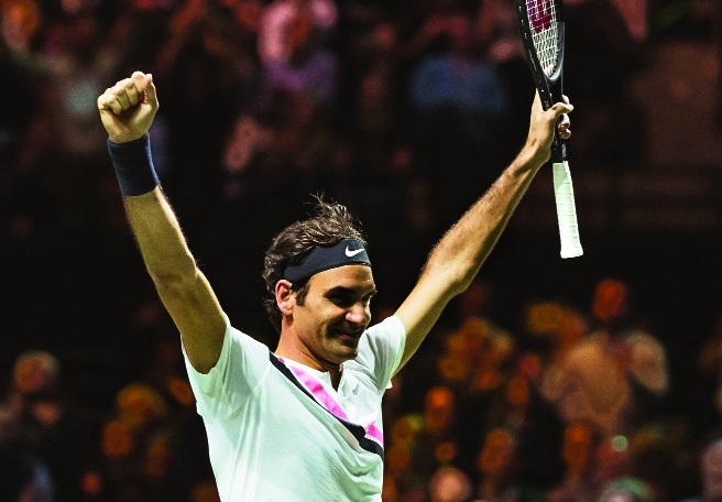 Federer overpowers Dimitrov to win 97th career title