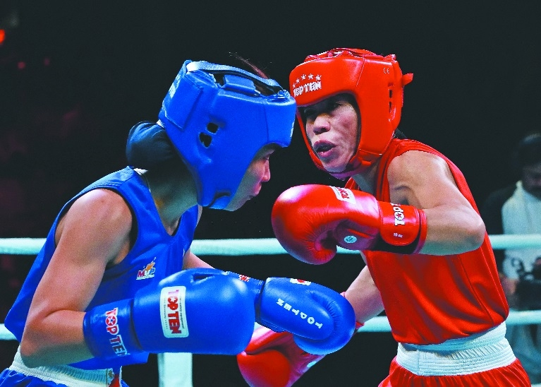 Mary Kom strikes gold